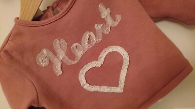 baby girl zara 9-12 heart jumper