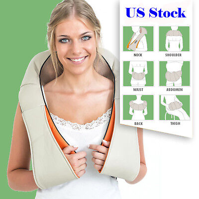 Health Care Pillow Kneading Neck Shoulder Back Waist Belly Foot Massager US Ship
