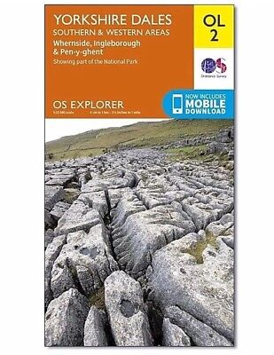 Yorkshire Dales Southern & Western Areas OL2 Explorer Map - OS - Ordnance *NEW*