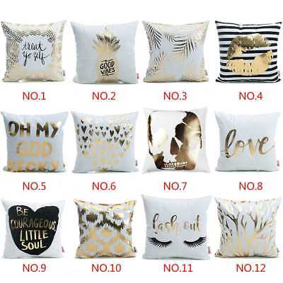 Letters Bronzing Soft Pillow-case Throw Pillow Covers Home Decor Cushion Cover