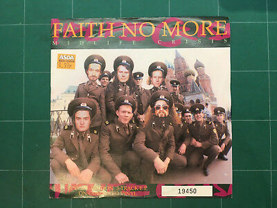 """Faith No More - Midlife Crisis 7"""" vinyl EP Numbered, Special Edtion, Blue Vinyl"""