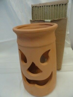 Halloween Pumpkin Terra Cota Lanterns Luminaires New In Box 12""