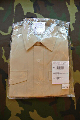 Britisches Shirt Man Fawn Army All Ranks Long Sleeve Hemd Nato gr 38 -1106