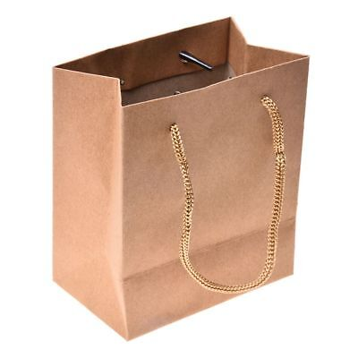 10pcs Paper Gift Jewelry Party Bag Food Carrier Bags - Brown