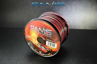 8 Gauge 100 Ft Red Black Speaker Wire Awg Cable Power Stranded Copper Clad Ee