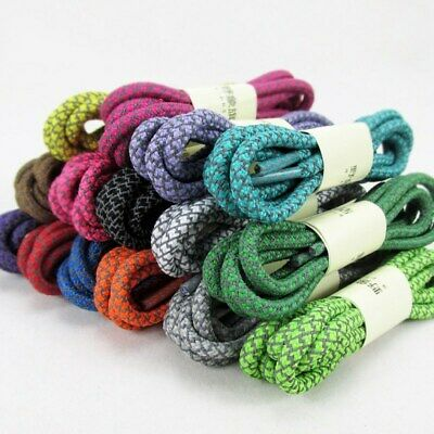 New Round Shoelaces Reflective Sneaker Trainers Shoe Laces Shoestrings 10 Colors