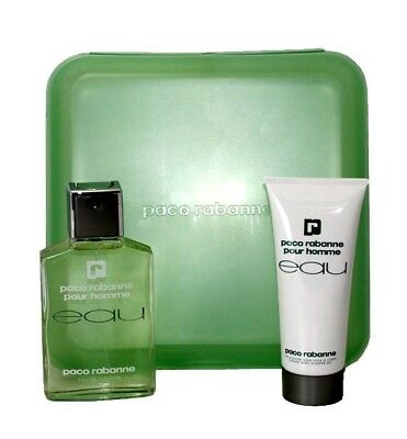 EAU PACO RABANNE POUR HOMME 2 PCS GIFT SET MEN 3.4 oz EDT SPRAY + 3.4 oz S/G