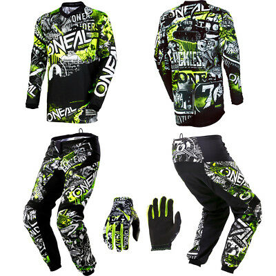 O'Neal Element Attack motocross MX gear - Jersey Pants Gloves Kids / Youth Combo