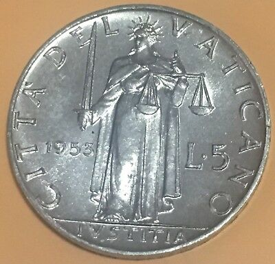 Vatican City 5 Lire, 1953