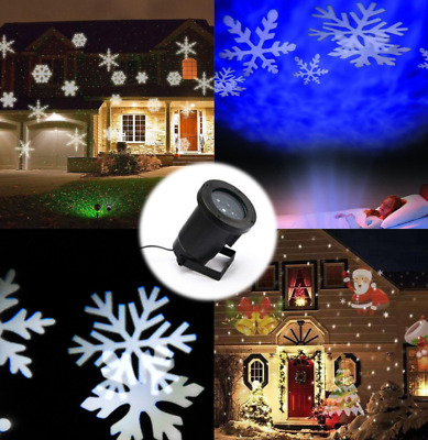 Multi-color Snowflakes Project Lamp Christmas Holiday GardenLandscape Decoration