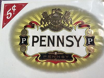 LOT of 2 VTG Cigar Box Labels Pennsy and Montebello