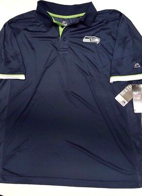 c6f63a37 Seattle Seahawks Team Nfl Dri Fit Mens Cool Base Polo Shirt New 2X Or 3X