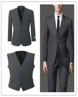 Grey Slim Fit Wedding Tuxedos Groom Groomsmen Man Suits Dinner Party Men Suits