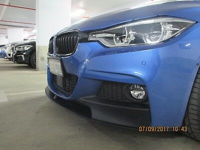 BMW F30 M Performance front spoiler/splitter Matt Black 51192291364