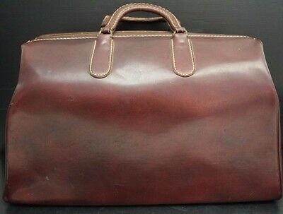 Large Vintage PAR-PAK Leather Doctors Bag / Luggage - High Quality