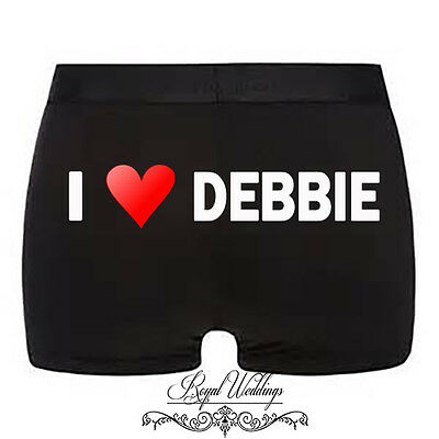 Personalised mens boxer shorts underwear valentines anniversary wedding gift
