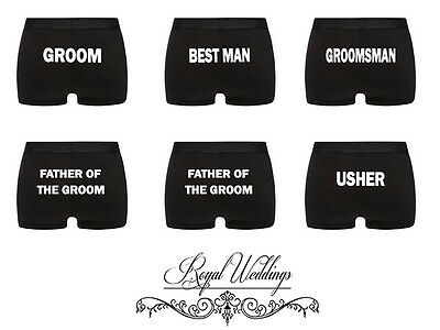 Personalised Underwear Wedding Groom, Bestman, Father Of Bride, Father Of Groom