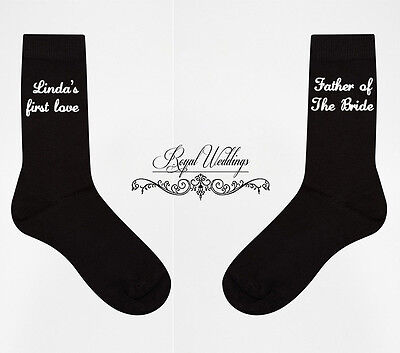 Father Of The Bride Socks, First Love, Personalised Socks