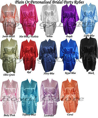 Custom Robe Bridesmaid Robes Satin Bridesmaid Robe Bridal Robes Dressing Gowns