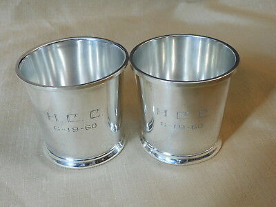 Fisher Sterling Mint Julep Cups