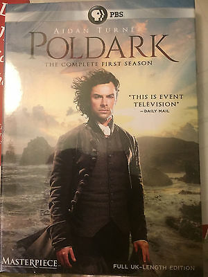 Masterpiece: Poldark: The Complete First Season, Season 1,NEW,3-Disc DVD EDITION