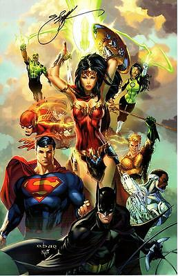 EBAS JUSTICE LEAGUE REBIRTH SIGNATURE EDITION ART PRINT - EXCLUSIVE 11x17