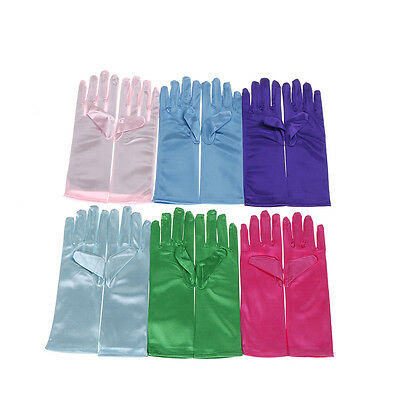 1Pair Girls Children Cosplay Costume Party princess and queen colorful Gloves