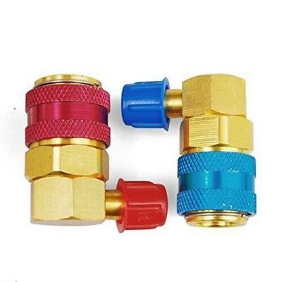 High Low R134A A/C Air Condition Quick Coupler Manifold Connector Adapter FO