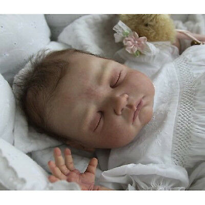 New DIY Baby Dolls Kit Soft Vinyl Head 3/4 Limbs Unpainted Reborn Silicon Doll