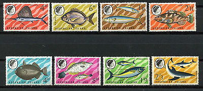 Ascension Island, Elizabeth Ii $ Local Motives, 1968/1969, (Wwf) Peces