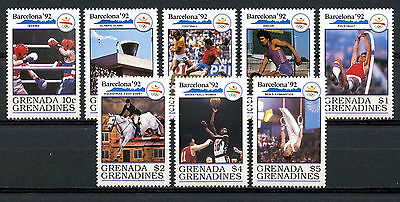 Grenada Grenadines Stamps, Serie, The Olympic - Barcelona 1992, (8)