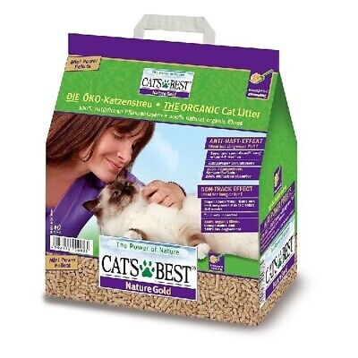 Cat's Best NatureGold Natural Clumping Cat Litter for Long-haired Cats 10kg/20L