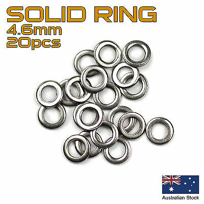 20x Solid Ring - 4.6mm - 304 Stainless Steel - Fishing Rigs, Jig Assist