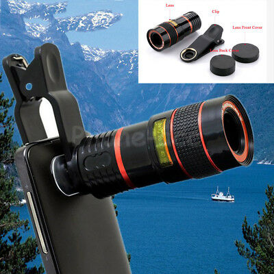8x Zoom Optical Telescope Camera W/ Clip For iPhone Telephoto Lens Samsung Phone