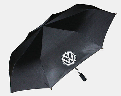 NEW BLACK AUTO Folding LED Flashlight Umbrellas Fit For VW Volkswagen CAR Gift U