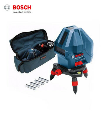 Bosch GLL3-15 Self-Leveling 3 Line Laser with Detachable Rotating Base & Bag