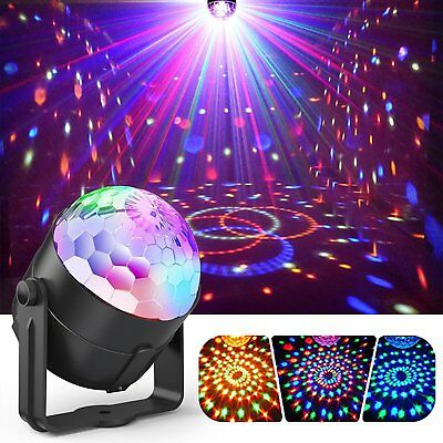 USB RGB LED Disco Ball DJ Party Light Effect Remote Sound Activated Strobe Lamp