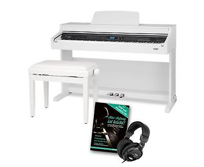 Digital Piano Electric Keyboard 88 Keys 128 Poly Tuning 600 Voices 3 Pedals Set