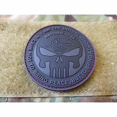 JTG The Infidel Punisher Patch, blackops / 3D Rubber Patch