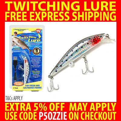 Genuine Twitching Fishing Lure Rechargeable Saltwater Fish Bait With Usb Charger