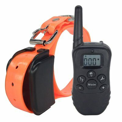 Dog Training Shock Collar Rechargeable Waterproof Electric LCD Remote Control