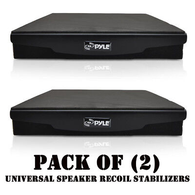 Pack of (2) Pyle PSI06 Acoustic Sound Isolation Recoil Stabilizers Speaker Riser