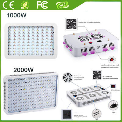 2000W 3000W LED Grow Light Hydro Full Spectrum Veg Indoor Plant Lamp Panel Bloom