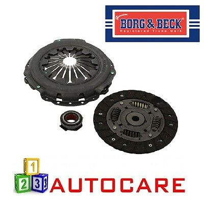 FOR PEUGEOT 207 307 1.4 8 VALVE 2000--/>ON NEW 3 PIECE BORG AND BECK CLUTCH KIT