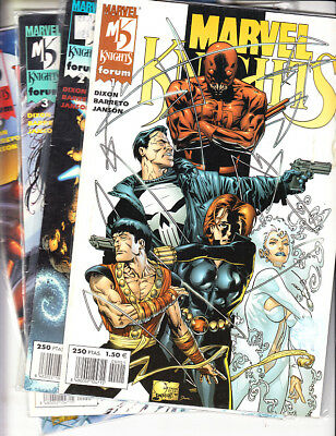 Marvel Knights (Lote  4  Numeros ) NºS  1. 2. 3. 5. Forum.
