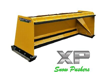 8' Low Pro pullback snow pusher skid steer Bobcat Case Caterpillar LOCAL PICK UP
