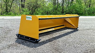 8' Low Pro snow pusher box w/ pullback bar FREE SHIPPING-RTR skid steer bobcat