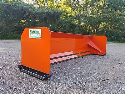 10' Snow pusher Kubota orange FREE SHIPPING skid steer Bobcat quick attach
