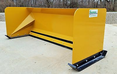 7' Snow pusher boxes FREE SHIPPING skid steer backhoe loader snow plow Bobcat