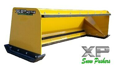 7' Low Pro pullback snow pusher skid steer Bobcat Case Caterpillar LOCAL PICK UP